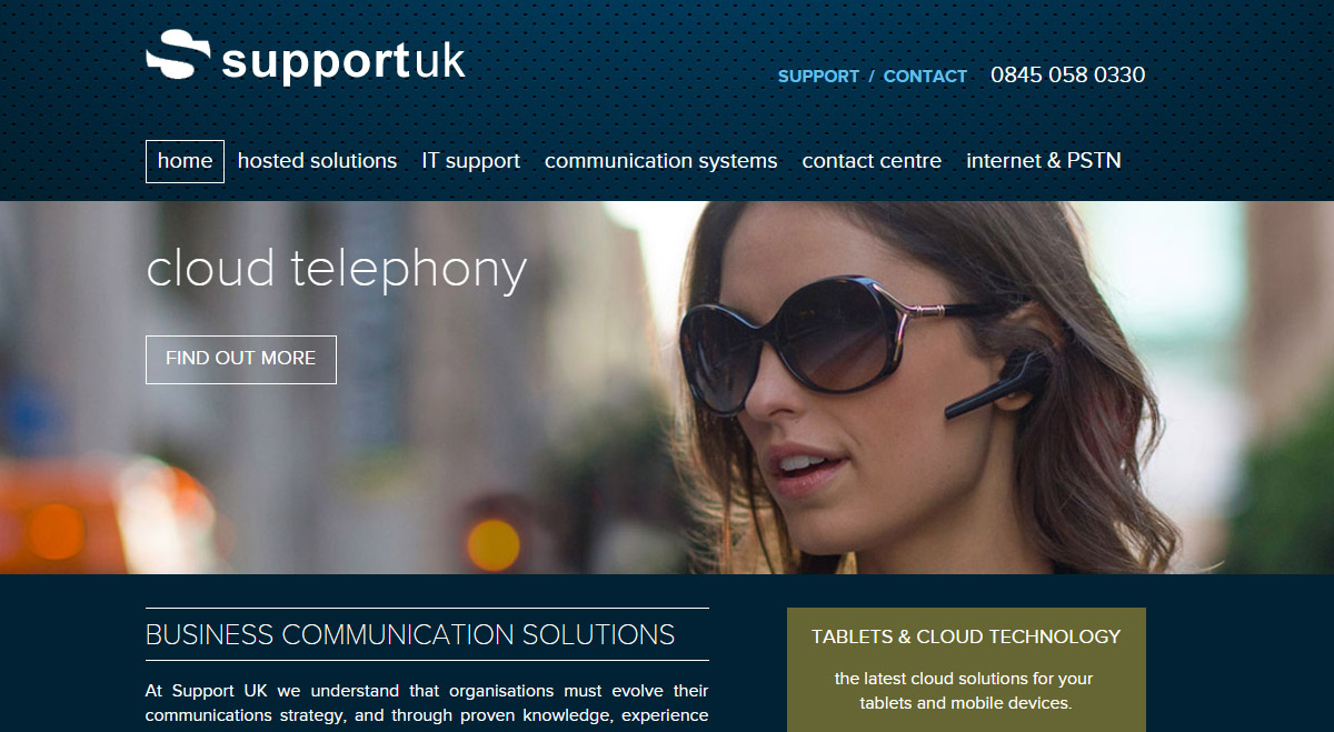 Support UK website redesign