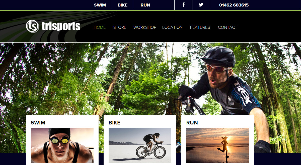 New website for TriSports in Letchworth